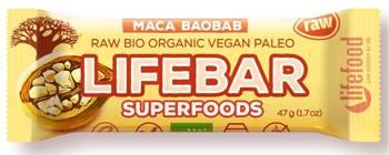 Baton daktylowo - orzechowy z macą i baobabem raw bezglutenowy BIO 47 g
