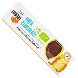 Baton mleczna czekolada bezglutenowy BIO 40 g  (super fudgio)