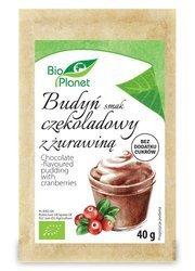 Budyń o smaku czekoladowym z żurawiną BIO 40 g