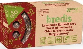 Chleb lniany suszony z buraczkiem czerwonym bezglutenowy BIO 70 g
