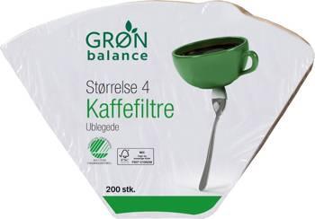 Filtry papierowe do kawy brązowe rozmiar 4 (200 szt.)