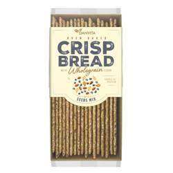 Płaskie chlebki pszenne z mąki pełnoziarnistej z mieszanką nasion Danvita, 130g