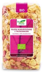 Płatki kukurydziane z truskawkami BIO 250 g