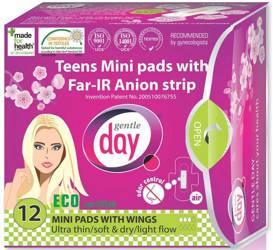 Podpaski higieniczne mini z paskiem anionowym (teens) 12 szt.