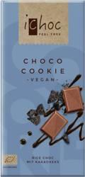 czekolada kuwertura z kawałkami ciastek kakaowych (na napoju ryżowym) BIO 80 g -