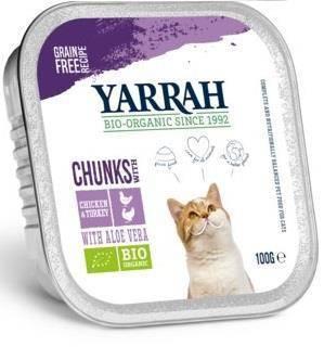 (dla kota) kawałki kurczaka i indyka z aloesem BIO 100 g