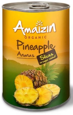 Ananas plastry w soku własnym (puszka) BIO 400 g (220 g)