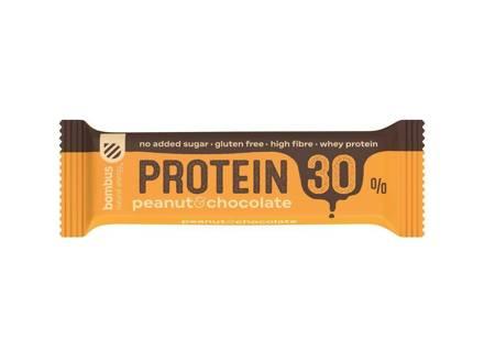 Baton Protein 30% orzech ziemny- czekolada BEZGL.