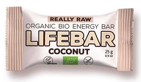 Baton daktylowo - orzechowy z kokosem raw bezglutenowy BIO 25 g
