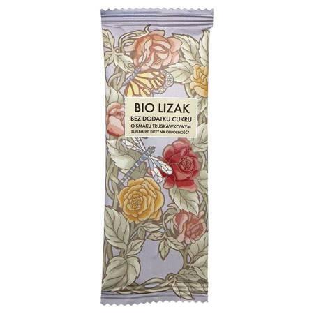 Bio Lizak o smaku truskawkowym bez dodatku cukru Lizuu BIO, 6g