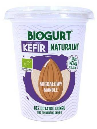 Biogurt- wegańska, fermentowana alternatywa kefiru z migdałów B/C BIO 400 g