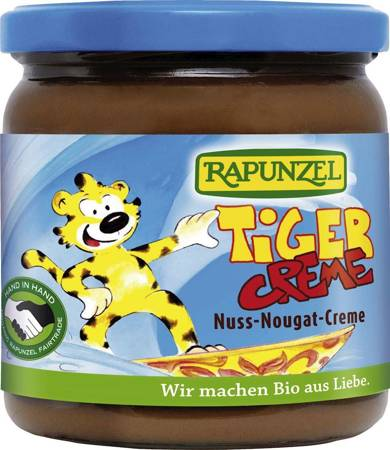 Krem orzechowo - czekoladowy tiger BIO 400 g
