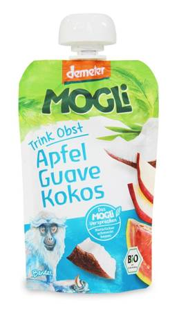 Przecier jabłkowy z guawą i kokosem 100 % owoców bez dodatku cukrów demeter BIO 100 g